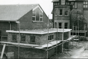Photo of construction of chapel