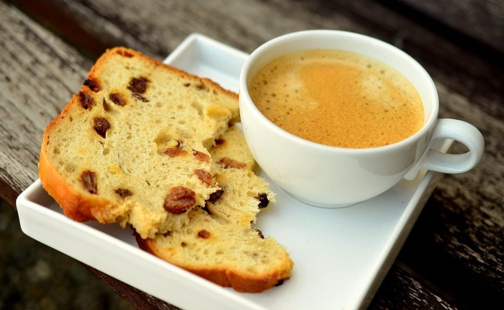 Image of coffee and cake